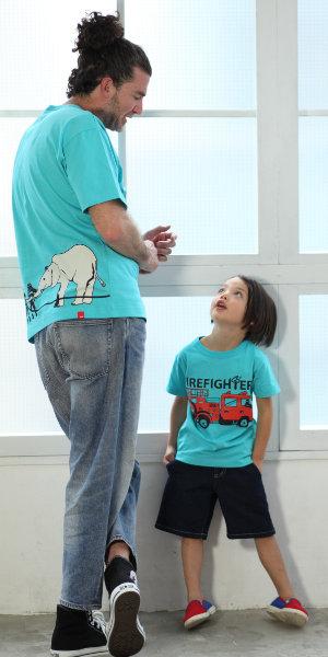 父の日はOJICOでパパとお揃い!Tシャツ「ファイヤーファイターズ」