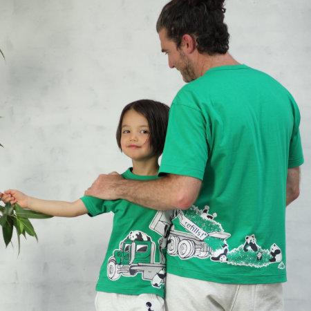 父の日はOJICOでパパとお揃い!Tシャツ「パンダンプ」