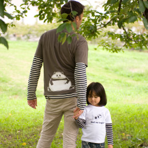 父の日はOJICOでパパとお揃い!Tシャツ「おむすびパンダ」