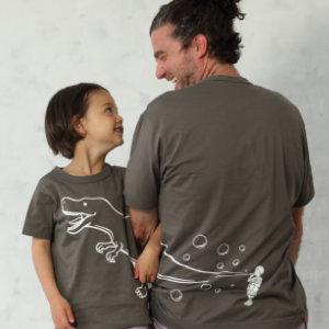 父の日はOJICOでパパとお揃い!Tシャツ「シャボンダマ」