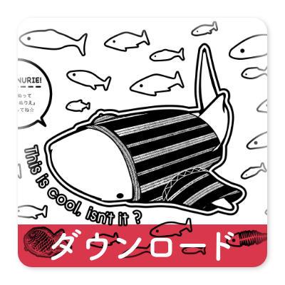 OJICOの塗り絵・ジンベイザメ