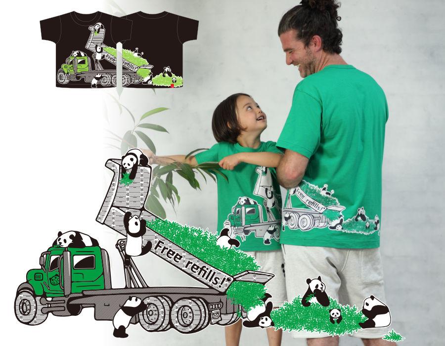 半袖Tシャツ「PANDAMP」(パンダンプ)